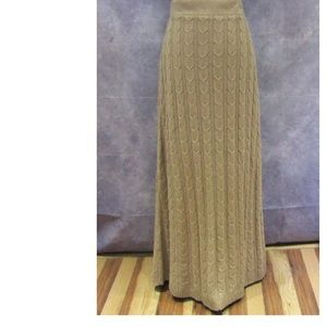 NEW Soft Surroundings Cable Knit Maxi Skirt Size M